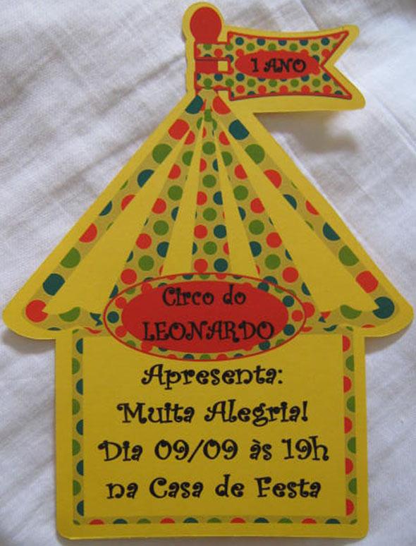CONVITE CIRCO, aniversário, festa,CONVITE INFANTIL, TEMA CIRCO, CONVITES TANIA MARIA