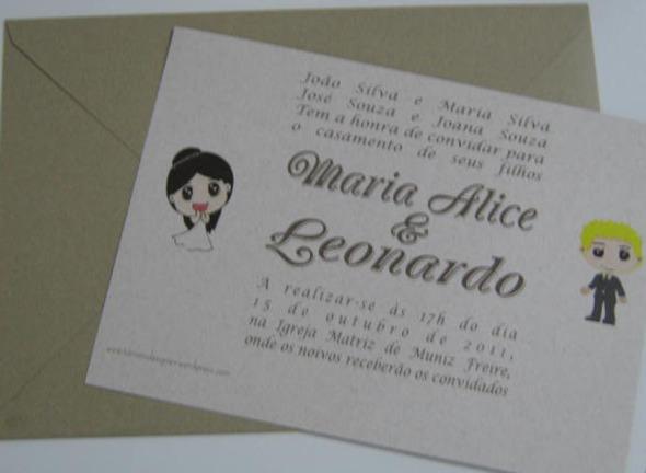 CONVITE CASAMENTO, CONVITE CASAMENTO MARIA ALICE LEONARDO, CONVITES, CONVITE, CONVITE MODERNO, CONVITE DIFERENTE, CONVITE PERSONALIZADO