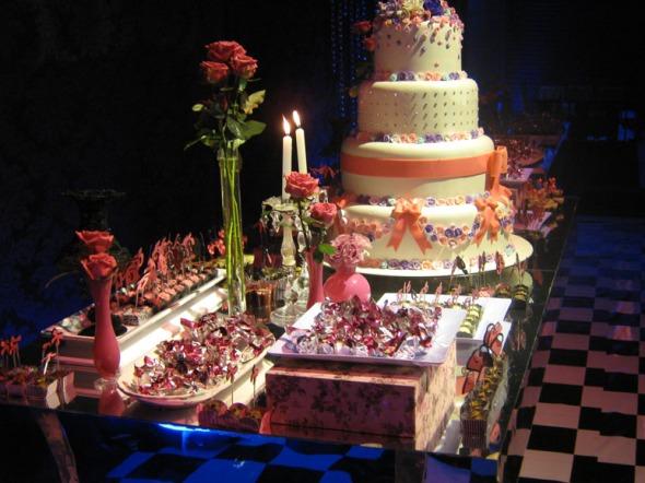 inspiração mesa bolo doces