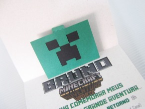 convite minecraft pop up tania maria atelie