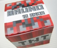 cx cubo TNT minecraft tania maria atelie